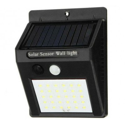 FARETTO 48 LED SOLARE PIR SENSOR + CDS NIGHT SENSOR
