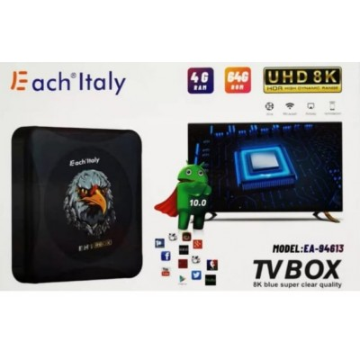 ANDROID TV BOX EACH 4+64G