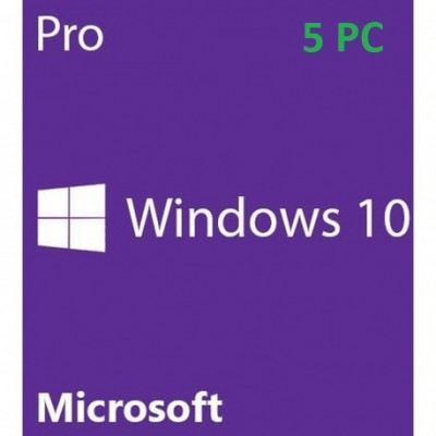 Microsoft Windows 10 Professional 5PC