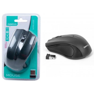 MOUSE OMEGA OM-419 WIRELESS 2,4GHz 800/1600DPI NERO