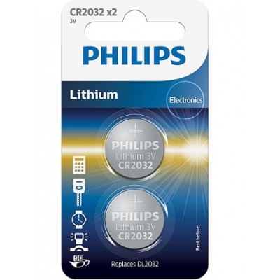 PILA AL LITIO CR2032 PHILIPS BLISTER*2