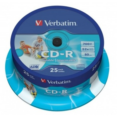 CD-R 52X 700MB PRINTABLE 25PZ