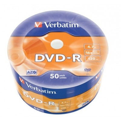 DVD-R 4,7GB 16X 50PZ WRAP