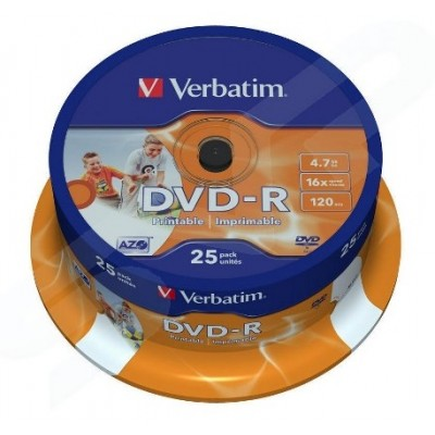 DVD-R 4,7GB 16X PRINTABLE 25PZ